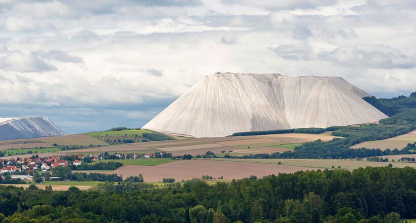 гора поваренной соли в германии