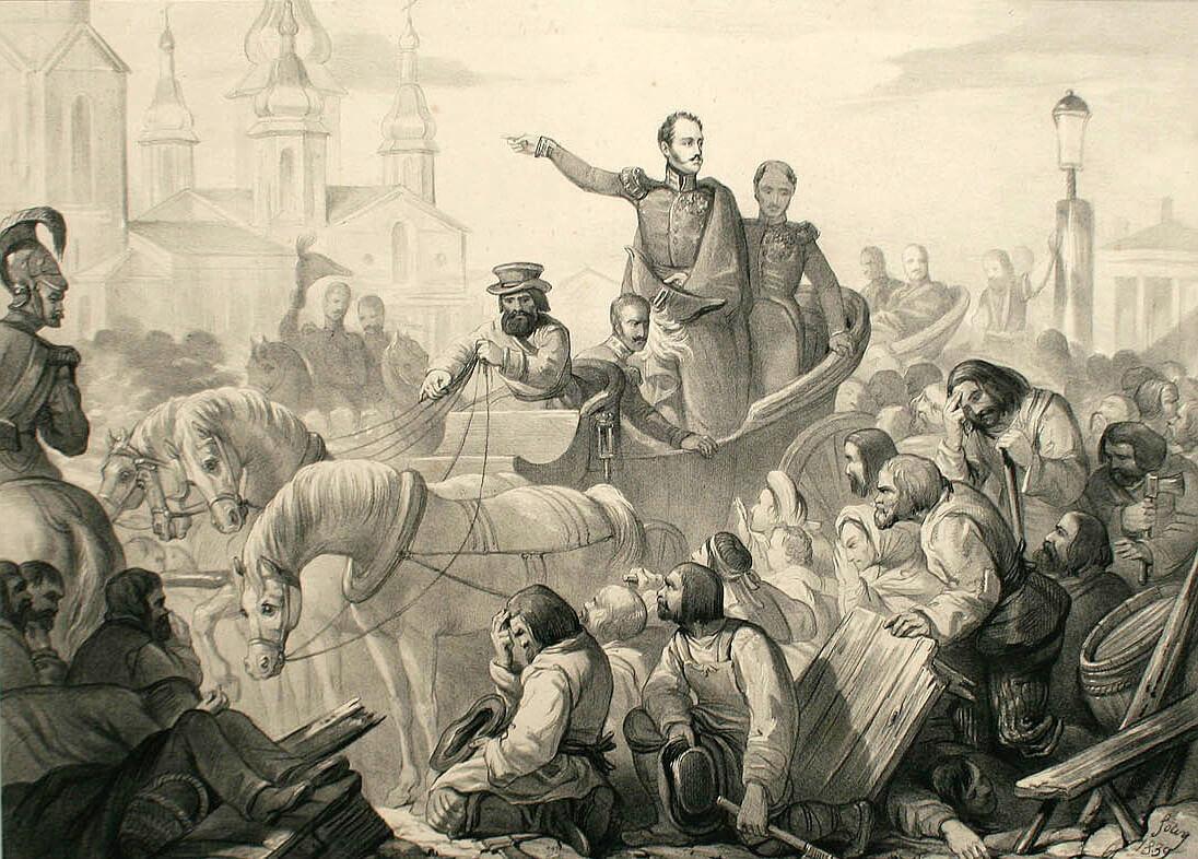 Первая эпидемия холеры в России. 1829 год