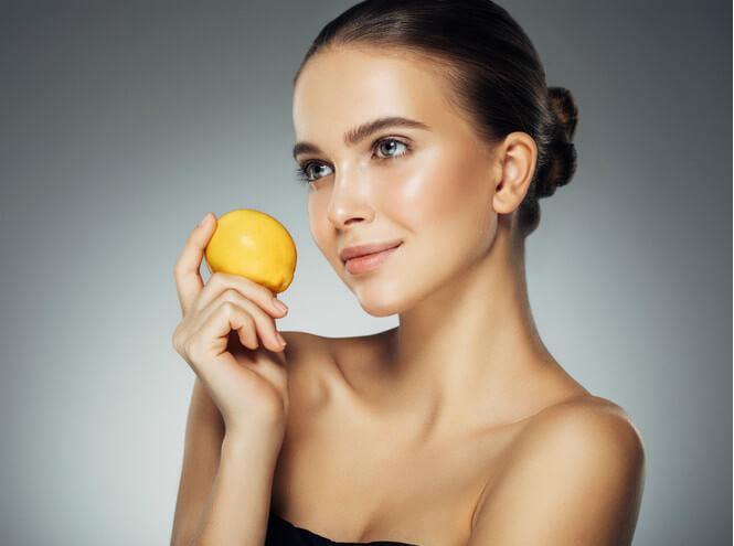 девушка лимон