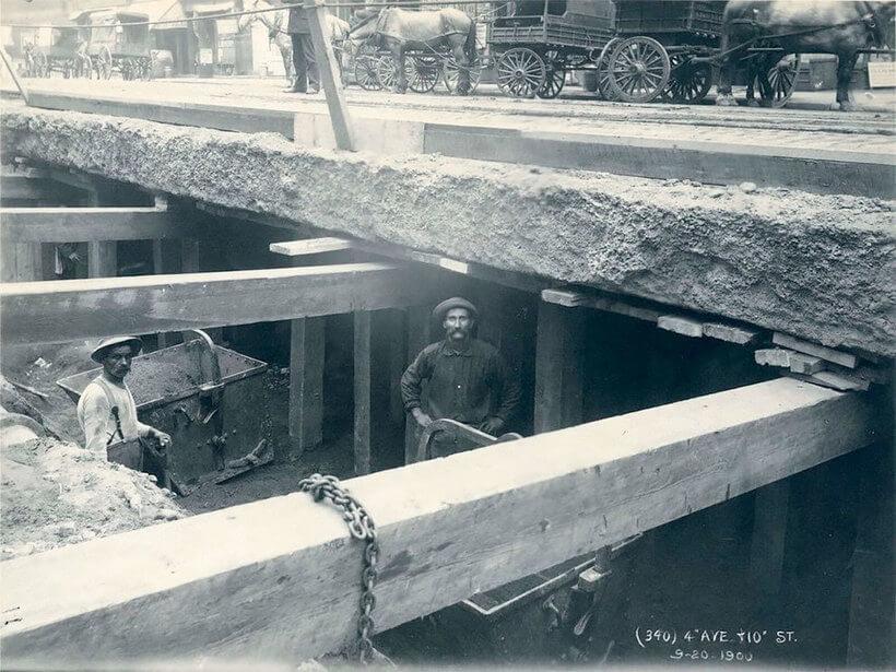 строительства метро Нью-Йорка в 1900-1939 гг