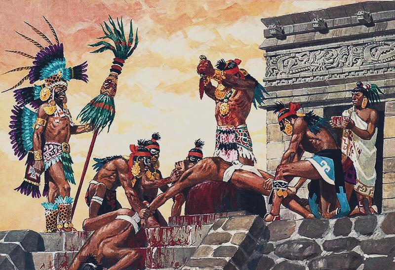 майя жертвоприношение