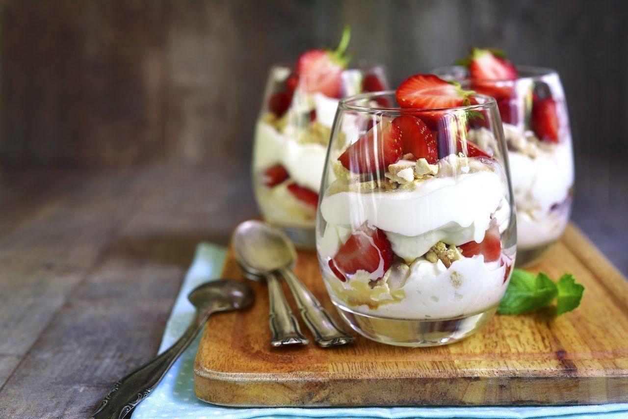 десерт из рикотты с клубникой
