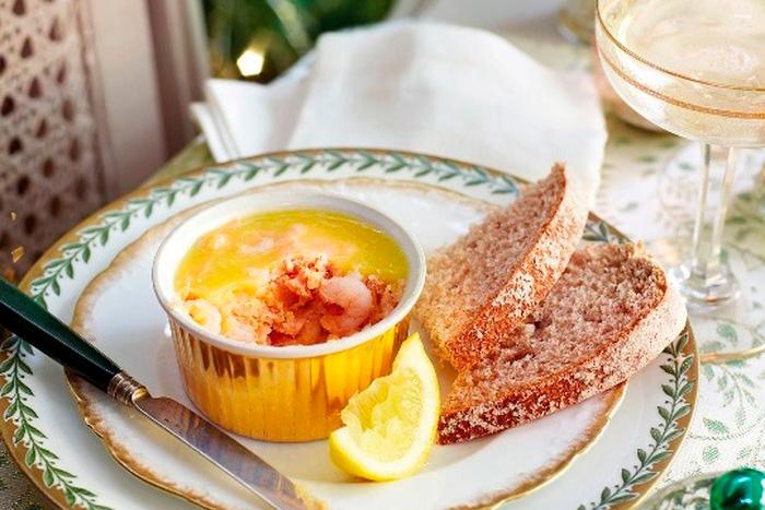 Рецепт закуска из лосося с креветками