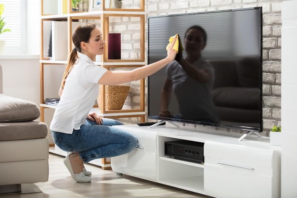 уборка телевизор монитор