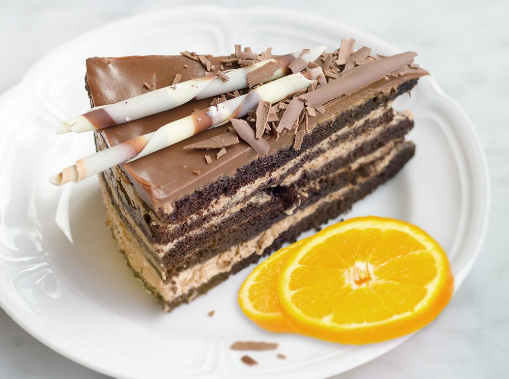 Шоколадно-марципановый торт