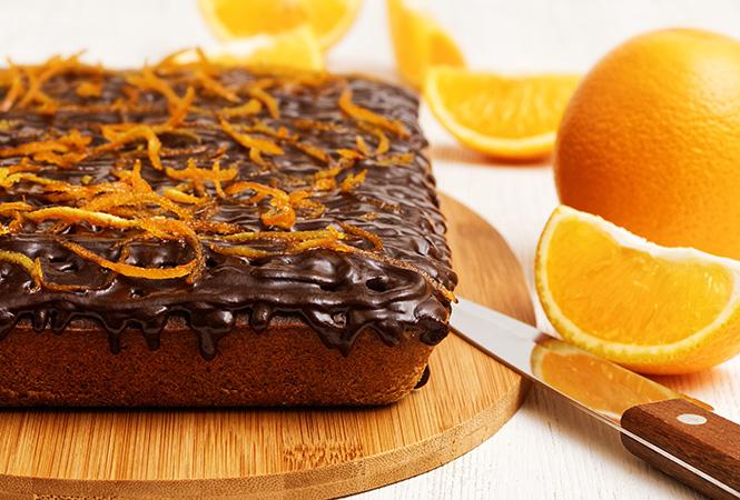 Шоколадно-апельсиновый кекс