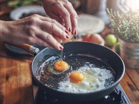 яичница завтрак