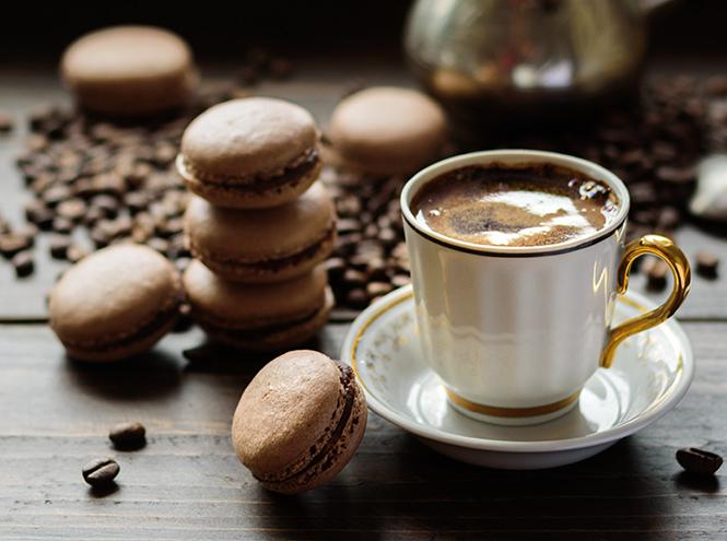 Кофейные макаруны с белым шоколадом