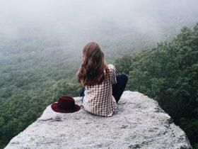 девушка природа