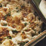 Картофельная запеканка с сыром и белым вином