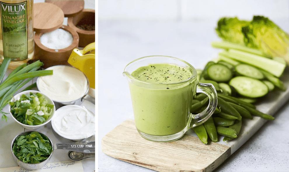 Заправка с йогуртом и травами