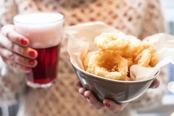 Кольца кальмара, жареные во фритюре: рецепт к пиву