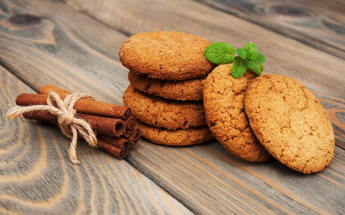 Овсяное печенье без муки с апельсиновой цедрой и шоколадом